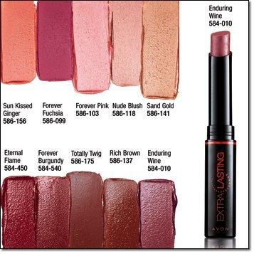 Avon Extra Lasting Lipstick SPF 15 Forever Burgundy