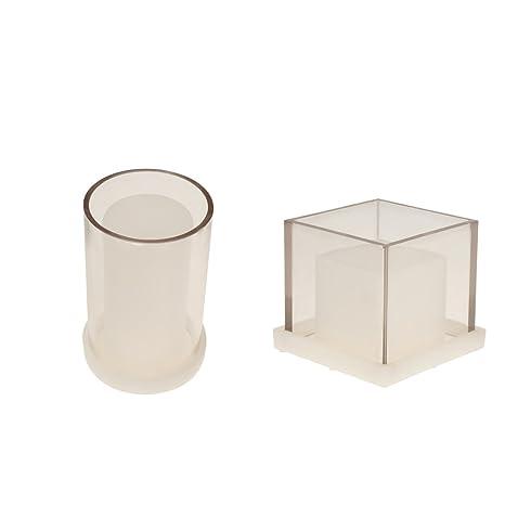 MagiDeal - Juego de 2 moldes para Hacer Velas con Forma de Cubo Hueco, para