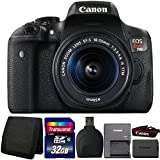 Canon EOS Rebel T6i 24.2MP DSLR Camera with 18-55mm IS STM Lens and Accessory Bundle