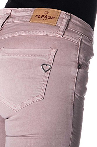 Please P95 Donna P95hdr74u1 Slim Stropicciato Skinny Rosa Jeans 1w1rPAq8