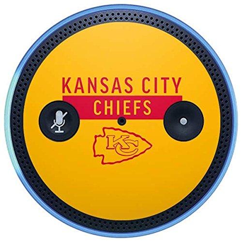 Skinit NFL Kansas City Chiefs Amazon Echo Plus Skin - Kansas City Chiefs Yellow Performance Series Design - Ultra Thin, Lightweight Vinyl Decal Protection