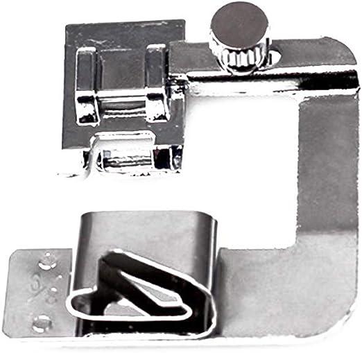 Isuper 3 Piezas Máquina de Coser prensatelas estrechas y Dobladillo prensatelas Conjunto Adecuado para máquinas de Coser domésticas de múltiples Funciones (4/8