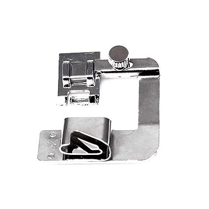Isuper 3 Piezas Máquina de Coser prensatelas estrechas y Dobladillo prensatelas Conjunto Adecuado para máquinas de