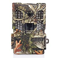 Wosports Trail Camera, 2018 Upgraded 1080P 12MP Hunting Game Camera, Wildlife Camera with Upgraded 850nm IR LEDs Night Vision 60ft, 2.4''LCD IP54 for Home Security Wildlife Monitoring/Hunting