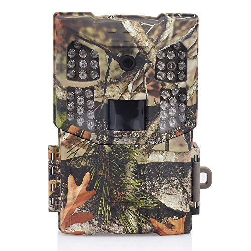 Wosports Trail Camera, 2018 Upgraded 1080P 12MP Hunting Game Camera, Wildlife Camera with Upgraded 850nm IR LEDs Night Vision 60ft, IP54 for Home Security Wildlife Monitoring/Hunting