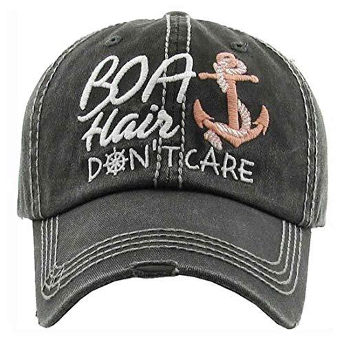 Boat Hair Don't Care Women's Vintage Cotton Baseball Hat