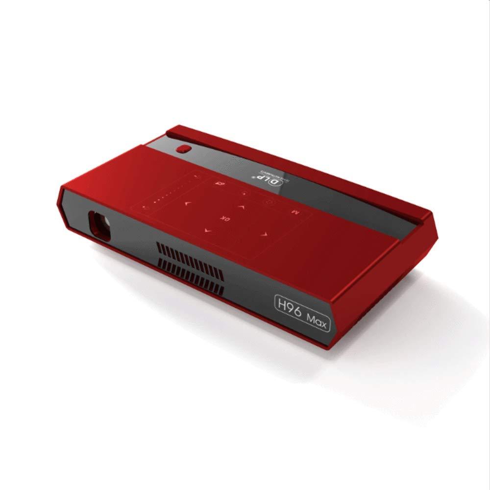OFZYG スマートプロジェクターアンドロイドエイトコア2G / 16Gスマートポータブル総本店マイクロプロジェクションDlpマイクロ4K 4.1ブルートゥース携帯電話付きスクリーン付き B07RT5G38S Red