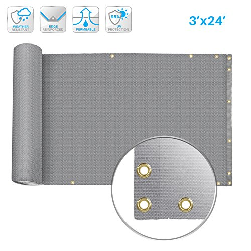 Cheap  Patio Deck Privacy Screen 3' x 24' Perfect For Outdoor,Backyard,Patio,Balcony,Pool,Porch,Railiing,Gardening,Fence Shield Rails..