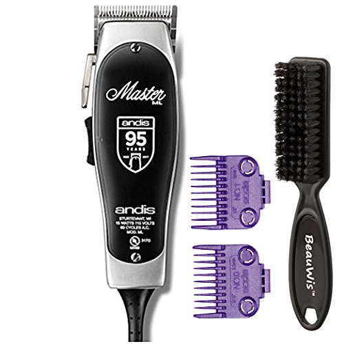 Andis Master 95th Anniversary Limited Edition Adjust Blade Clipper Includes #0, #1 combs and a Bonus BeauWis Blade Brush by Andis