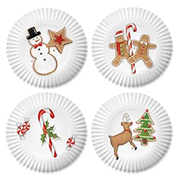 Holiday Melamine Plates - Set of 4  sc 1 st  Amazon UK & Holiday Melamine Plates - Set of 4: Amazon.co.uk: Kitchen u0026 Home