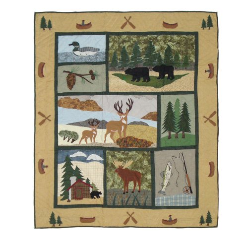 Patch Magic 50-Inch by 60-Inch Lodge Fever Throw