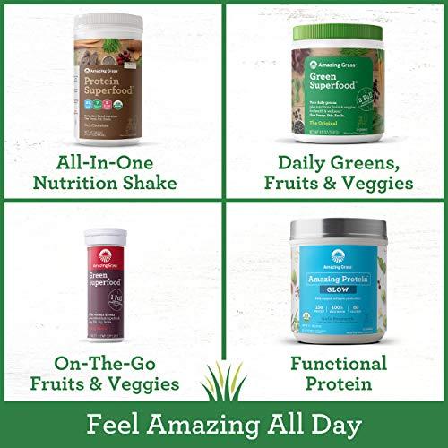 Amazing Grass Green Superfood: Super Greens Powder with Spirulina, Alfalfa, Digestive Enzymes & Probiotics, Original, 100 Servings 8