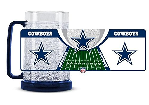 Dallas Cowboys Crystal Freezer Mug - Licensed NFL Football Merchandise Dallas Cowboys Nfl Crystal