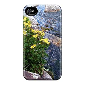 Anti-scratch And Shatterproof A Mountain Stream Phone Case For Iphone 4/4s/ High Quality Tpu Case