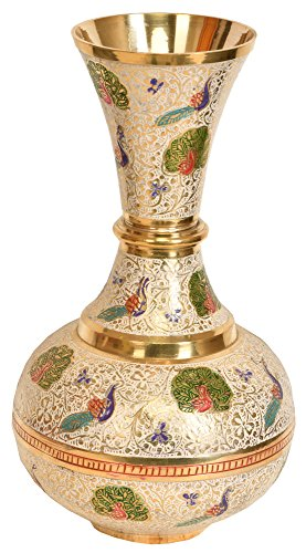 Peacock Flower Vase - Brass Statue ()