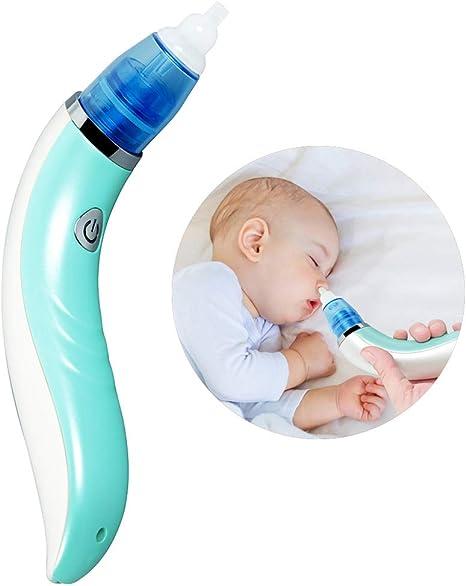 Qwhome Aspirador Nasal para bebés, Limpiador eléctrico de mocos, Carga por USB: Amazon.es: Deportes y aire libre