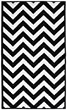 Cheap Garland Rug Chevron Area Rug, 5 by 7-Feet, Large, Black/White