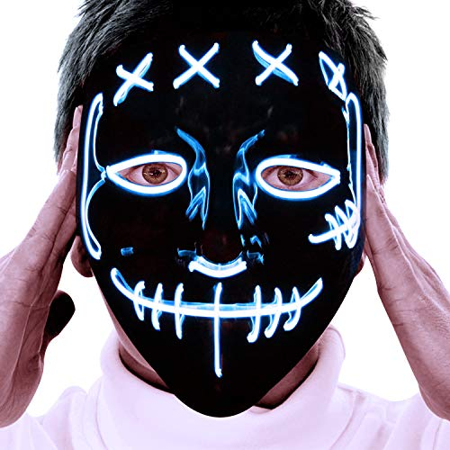The Purge Halloween (Halloween LED Mask Costume)