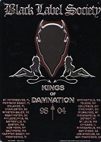 Black Label Society Kings of Damnation Tin Sign 9 x (Label Society Poster)