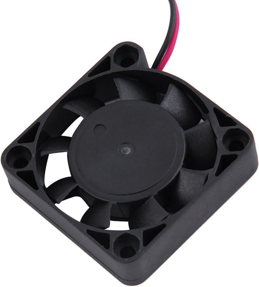 LeobooseDC 12 V 4 CM 2 Pin 2 L/íneas 4500 RPM Sin escobillas Tarjeta Gr/áfica VGA de Pl/ástico Enfriador Enfriador Enfriador para PC Port/átil Caja de la computadora