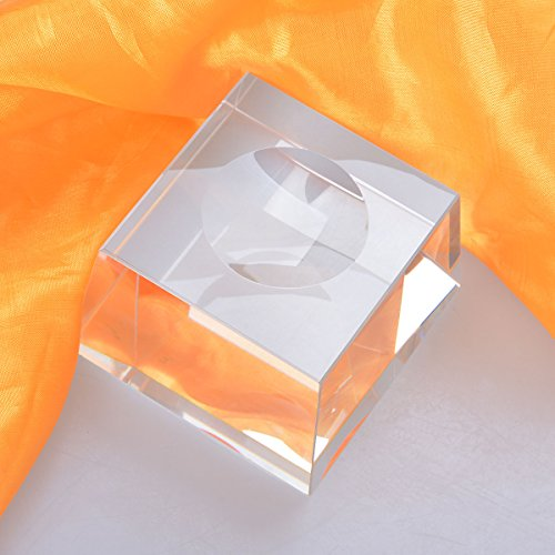 LONGWIN Trapezoid Dimple Blocks Glass Display Stand For 150-200mm Sphere (1pc)