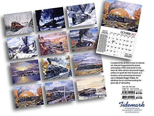 Howard Foggs Trains 2017 Calendar