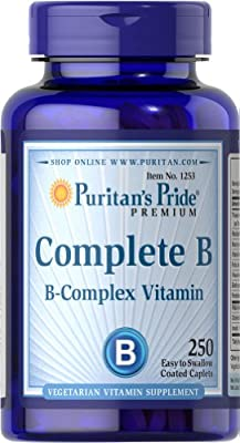 Puritan's Pride Complete B (Vitamin B Complex)-250 Caplets