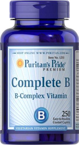 Puritan's Pride Complete B (Vitamin B Complex)-250 Caplets (B-complex B-compleet Vitamin)