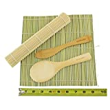 BambooMN Brand - Sushi Rolling Kit - 2x rolling mats, 1x rice paddle, 1x spreader - combo