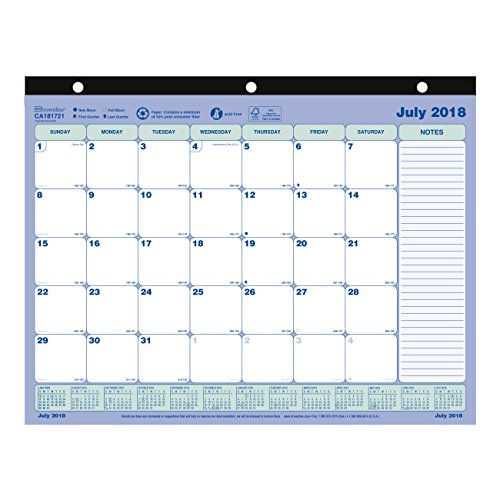 Brownline Monthly Mini Academic Desk Pad Calendar, 13-Month, July 2018 to July 2019, 11 x 8.5 inches (CA181721-19) ()