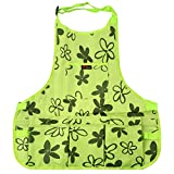 Work Apron 600D Oxford Shop Apron with Multiple Pockets to Organize Your Tools Protective Tool Apron (Green)