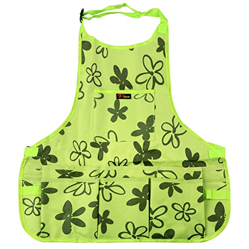 Work Apron 600D Oxford Shop Apron with Multiple Pockets to Organize Your Tools Protective Tool Apron (Green) by RTWAY