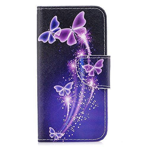 Ecoway Serie pintada Caja del teléfono de moda para Huawei Y5 2017 - Tower Violet butterfly