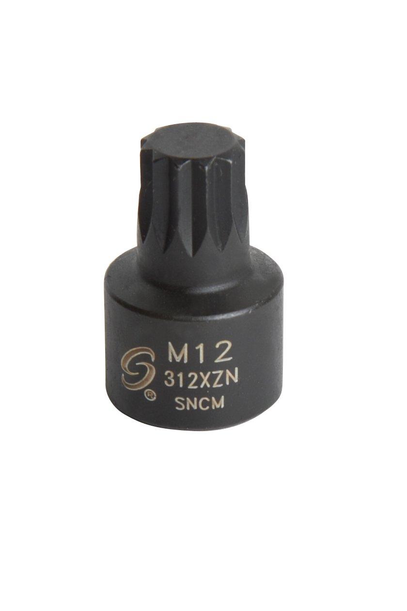 Sunex 312XZN 3/8' Drive M12 Stubby Triple Square Impact Socket