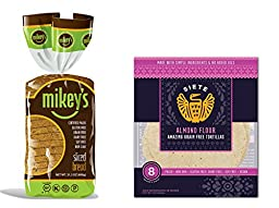 Mikey\'s SLICED BREAD, 21.2 oz (13 Slices) & Siete Almond Flour Tortillas, 8 count