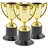 Baker Ross Gold Trophies (Pack Of 6) For Kids Party Bag Fillers, Prizes and Games
