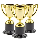 Gold Trophies (Pack Of 6) For Kids Party Bag Fillers, Prizes and Games