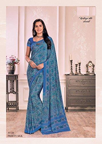 lavoro jari Designer crape bollywood originale gonna ricamo sari lavoro indiano abito 841 donne 100 collezione saree culutral tradizionale manuale saree dSqqxF