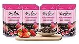 Tru Fru Dark Chocolate Dipped Freeze-Dried Fruit, 12-Pack Grab & Go, Strawberry