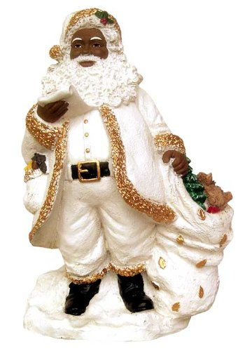 Figurines Black Santa (Santa with List)