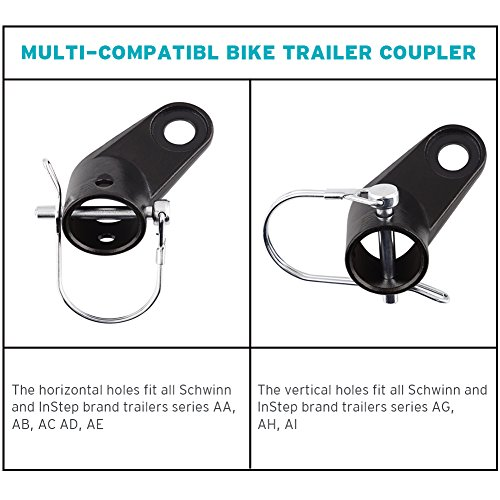 Upgraded Bike Bicycle Trailer Coupler Attachment Angled Elbow for InStep & Schwinn Bike Trailers by Titanker (Image #4)