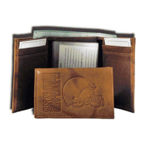 NFL Cleveland Browns Leather Trifold Wallet with Man Made ()