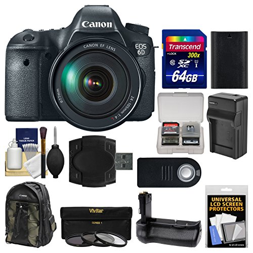 Canon EOS 6D Digital SLR Camera Body & EF 24-105mm L IS USM