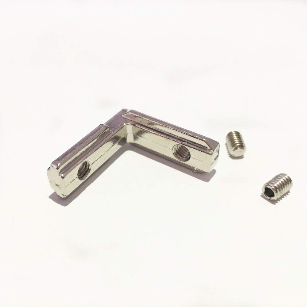 Gimax 200pcs/lot T Slot L-Shape 2020 Aluminum Profile Interior Corner Connector Joint Bracket for 2020 Alu-Profile (with M4 Screws) by GIMAX (Image #2)