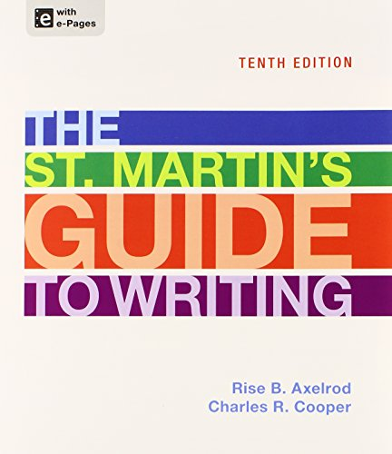 St. Martin's Guide to Writing 10e, Paper Version & Sticks and Stones 8e
