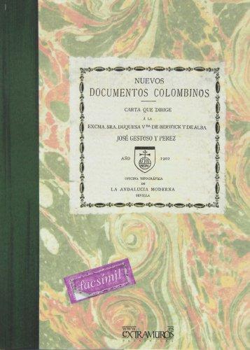 Descargar Libro Nuevos Documentos Colombinos José Gestoso Y Pérez