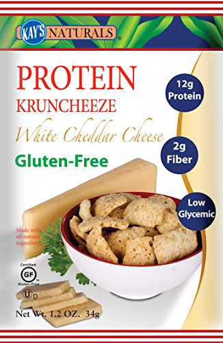 Chips White Cheddar (Kay's Naturals Protein Kruncheeze, White Cheddar Cheese, 1.2 ounces (Pack of 6))