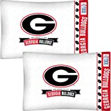 NCAA Georgia Bulldogs Football Set of Two Pillowcases