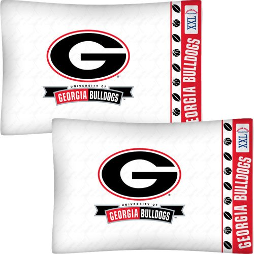 Pillow Ncaa Football (NCAA Georgia Bulldogs Football Set of Two Pillowcases)