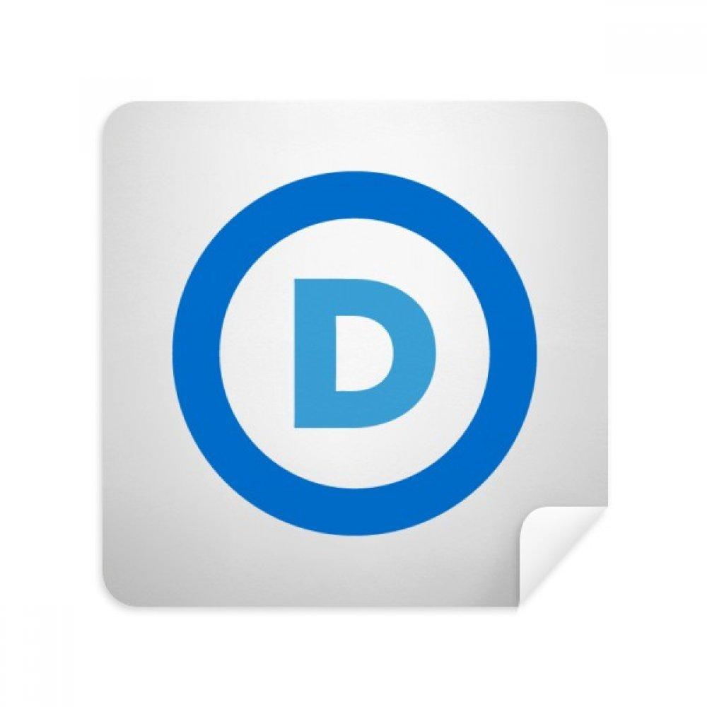 アメリカエンブレム民主党ブルーメガネクリーニングクロス電話画面クリーナースエードファブリック2pcs   B07C97X9FL